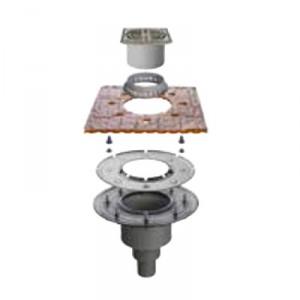 Външен вертикален подов сифон без капан за миризми KERDI-DRAIN , KD BV 50 ASLVB , DN 50 / UK 50 mm