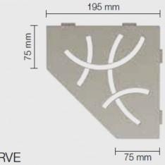 Полици за баня SHELF-E-S2 CURVE , текстуриран алуминий