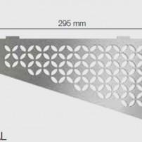 Полици за баня SHELF-E-S3 FLORAL , текстуриран алуминий