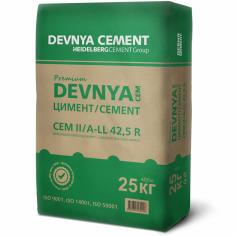 Варовиков портланд цимент DEVNYA Premium CEM II/ A-LL 42,5 R , 25 кг.
