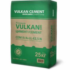 Варовиков портланд цимент VULKAN Premium CEM II/ A-LL 42,5 N , 25 кг.