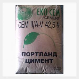 Цимент СЕМ II 42.5 N ЕКО ЦЕМ - 25 кг.