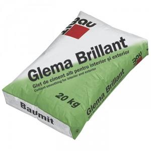 Циментова бяла шпакловка Баумит Глема Брилянт , 20 кг.