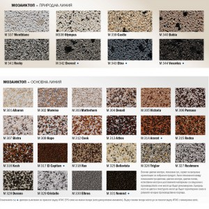 Декоративна мозаечна мазилка Баумит МозаикТоп , 25 кг , M301