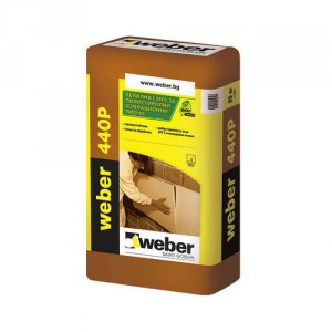Лепило шпакловка за топлоизолация weber 450P , 25 кг.