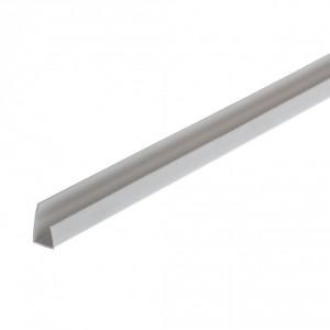 Профил завършващ за гипсокартон PVC 12.5 мм/2.5 м (10950)