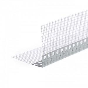 Ъгъл PVC с мрежа 10х10 см, 2.5 м (10861)