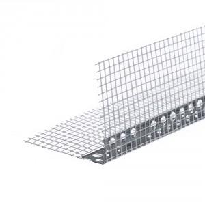 Ъгъл алуминиев с мрежа 7х7см, 2.5 м (10300)