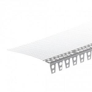 Ъгъл за свод PVC с мрежа 15 см , 2.5 м (10902)