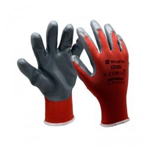 Монтажни ръкавици RED NITRIL , размер 9