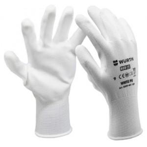 Монтажни ръкавици White PU , размер 10