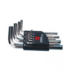 Комплект ключове Г-образни ZEBRA , 1/16 - 1/4 , 10 бр.