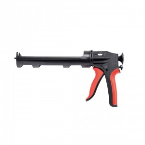 Пистолет за силикон  метален червен , 310 мл
