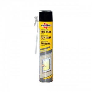 Пяна ръчна полиуретанова WORKSHOPR® , 750 ml / 650 gr
