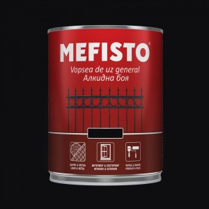 Mefisto Алкидна боя , черна RAL 9005 , 650 мл.