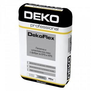 Лепилна и шпакловъчна смес с фибри за EPS и XPS DekoFlex , 25 кг.