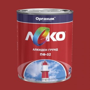 Леко Алкиден грунд ПФ-02 , оксидно червен , 0.9 кг
