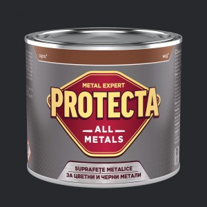 Боя за черни и цветни метали PROTECTA All Metals , графит RAL 9011 , 500 мл.