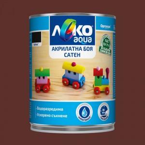 Леко Aqua Акрилатна боя сатен , кафява , 700 мл.