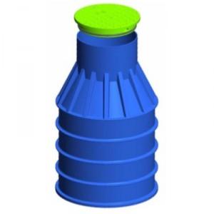 Резервоар за подземен монтаж за вода с 1 капак Вертикален , 1000 л.