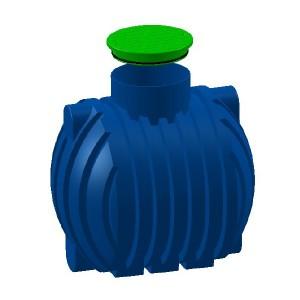 Резервоар за подземен монтаж за вода с 1 капак Хоризонтален , 2000 л.