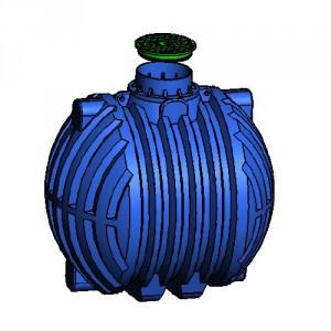 Резервоар за подземен монтаж за вода с 1 капак Хоризонтален , 8000 л.