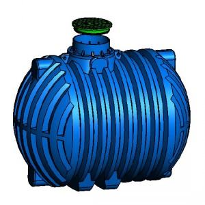 Резервоар за подземен монтаж за вода с 1 капак Хоризонтален , 10000 л.