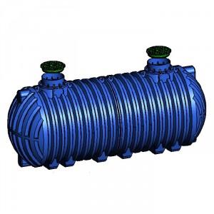 Резервоар за подземен монтаж за вода с 2 капака Хоризонтален , 16000 л.