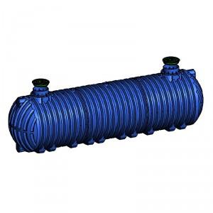 Резервоар за подземен монтаж за вода с 2 капака Хоризонтален , 36 000 л.