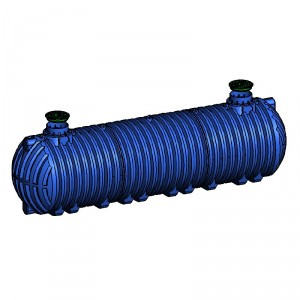 Резервоар за подземен монтаж за вода с 2 капака Хоризонтален , 38 000 л.
