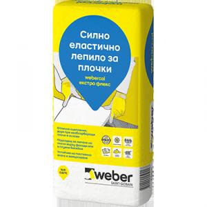 Силно еластично лепило за плочки webercol екстра флекс F604 , 25 кг.