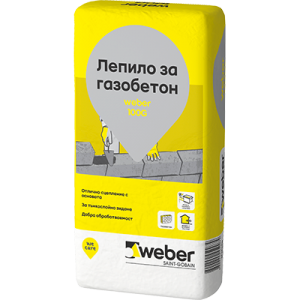 Лепило за газобетон weber 100G , 25 кг.