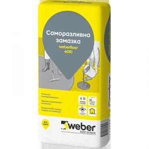 Саморазливна смес за вътрешни помещения weberfloor 4010 , 25 кг.