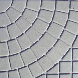 Тротоарна, градинска плоча , сив , релефна ,  40 / 40 / 5 см.