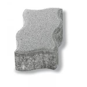 Настилка UNI - Вълна , сив , 22,5 / 11,2 / 8 см.