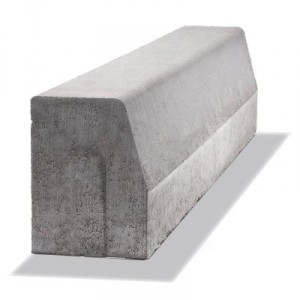 Пътен, магистрален бордюр сив , 50 / 15 / 25 - 15 см.