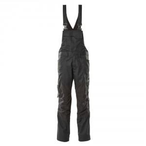 Полугащеризон  с еластични вложки и  джобове за наколенки черен , размери 76С46 - 90С62