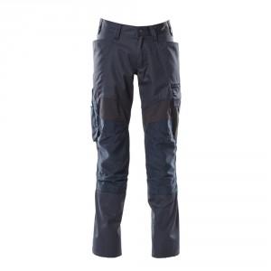 Панталон с еластични вложки и  джобове за наколенки тъмно син, размери 76С46 - 90С62