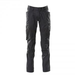 Панталон с еластични вложки и  джобове за наколенки черен , размери 76С46 - 90С62