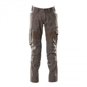 Панталон с еластични вложки и  джобове за наколенки тъмен антрацит , размери 76С46 - 90С62