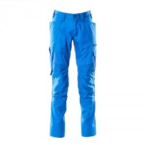 Панталон с еластични вложки и  джобове за наколенки морско син , размери 76С46 - 90С62