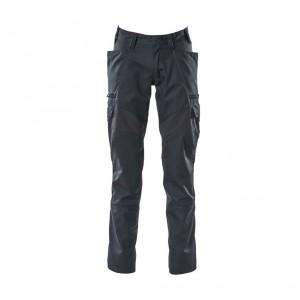 Панталон с еластични вложки и бедрени джобове тъмно син, размери 76С46 - 90С62