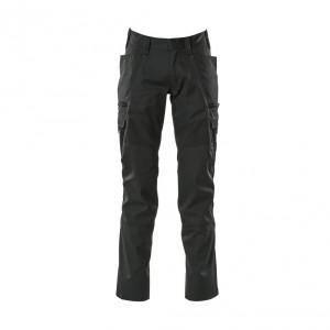 Панталон с еластични вложки и бедрени джобове черен , размери 76С46 - 90С62