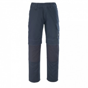 Панталон с джобове за наколенки тъмно син, размери 76С46 - 90С62