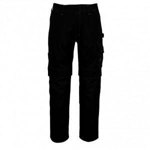 Панталон с джобове за наколенки черен , размери 76С46 - 90С62