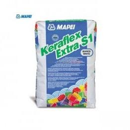 Лепило за керамични плочки и естествен камък KERAFLEX EXTRA S1 , бяло , 25 кг.