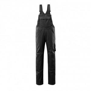 Полугащеризон  с джобове за наколенки MASCOT® Lowell черен , размери 76С46 - 90С62