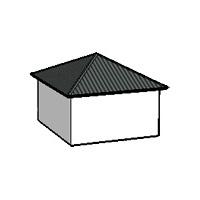 Калкулатор за Четирискатен пирамидален покрив