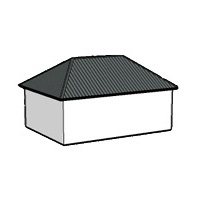 Калкулатор за Четирискатен покрив с било